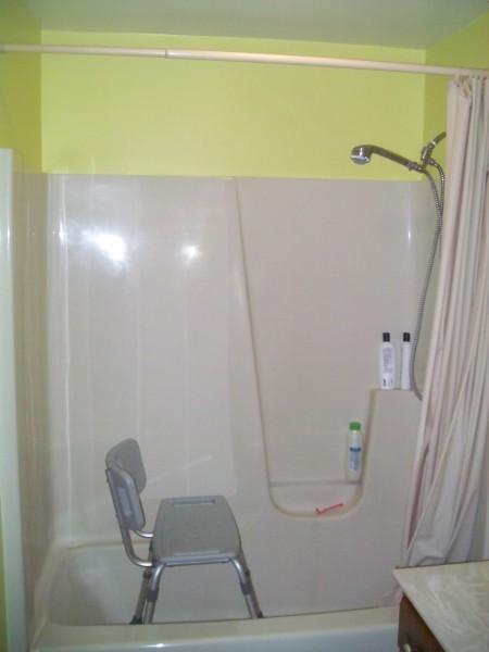 Bath Bench, Hand Held Shower